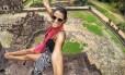 Gabriela Valverde, durante viagem no Camboja Foto: Reprodução