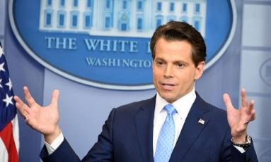 Anthony Scaramucci foi nomeado por Donald Trump para o cargo de diretor de Comunicação da Casa Branca Foto: JIM WATSON / AFP