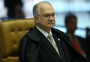 O ministro Edson Fachin no plenário do STF Foto: Ailton de Freitas / Agência O Globo