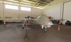 Um dos vants que estão parados em hangar na cidade de São Miguel do Iguaçu, no interior do Paraná. Além da vigilência, havia previsão de transferência de tecnologia Foto: Reprodução