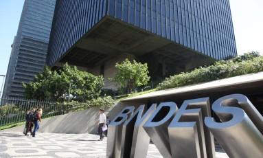 Sede do BNDES, no Rio Foto: Lucas Tavares / Zimel / O Globo