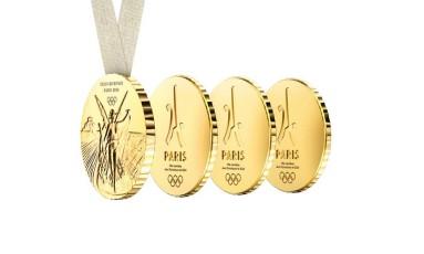 Candidatura de Paris propõe medalhas que podem ser divididas em quatro partes pelos atletas Foto: Reprodução