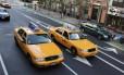 Os tradicionais táxis amarelos de Nova York