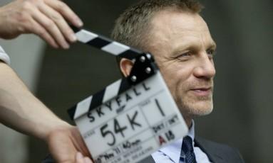 Daneil Craig nas gravações de '007 - Operação Skyfall' Foto: Divulgação