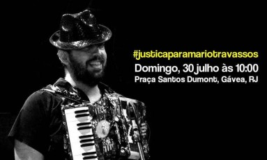 Mário, internado na Clínica da Gávea, morreu com marcas de violência no rosto Foto: Facebook/Reprodução
