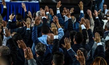 Juízes escolhidos pelo Parlamento da Venezuela, controlado pela oposição Foto: JUAN BARRETO / AFP