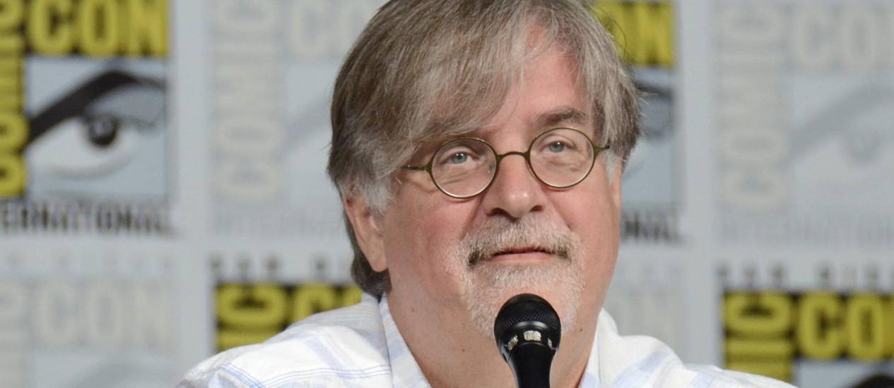 Matt Groening durante o painel dos 'Simpsons' na Comic-Con 2017 Foto: Tonya Wise / Tonya Wise/Invision/AP