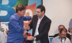 Marcelo Crivella e Castanheira durante a campanha do prefeito em 2006 Foto: O Globo