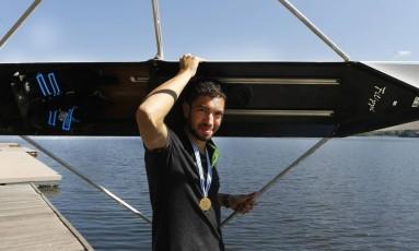 Uncas Tales, campeão mundial de remo Single Skiff Peso Leve Sub-23 Foto: Antonio Scorza / Agência O Globo