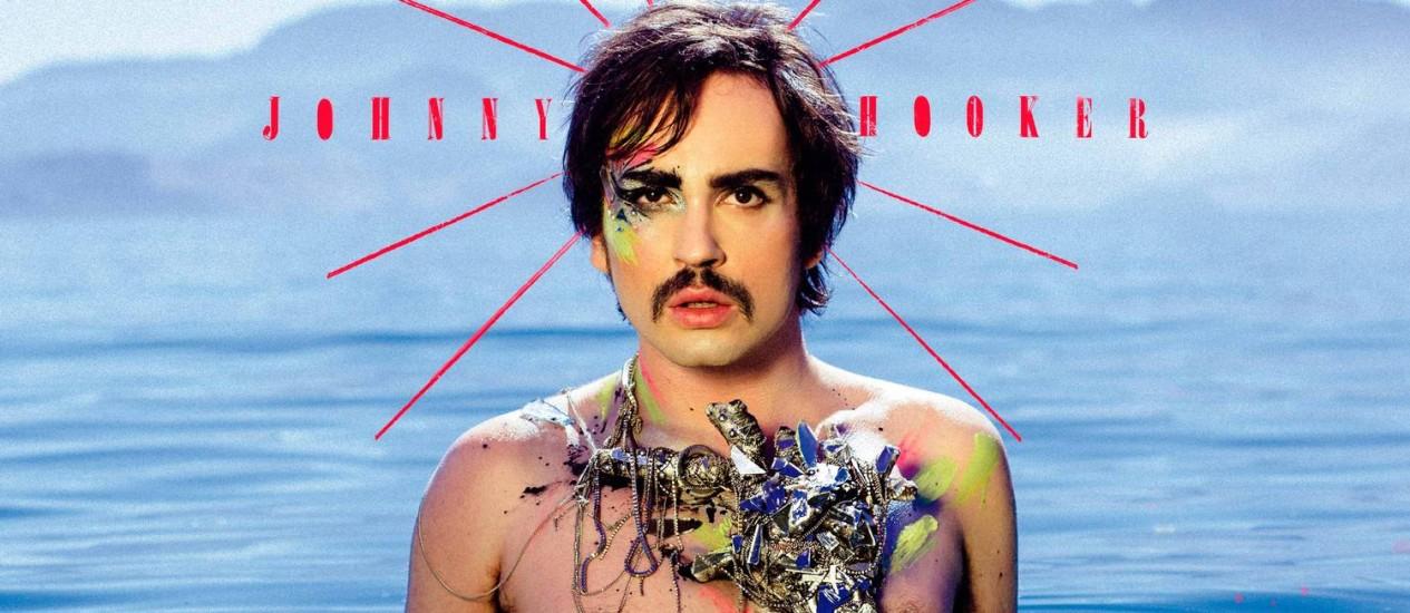 Detalhe da capa de 'Coração', segundo álbum de Johnny Hooker, lançado no domingo Foto: Reprodução