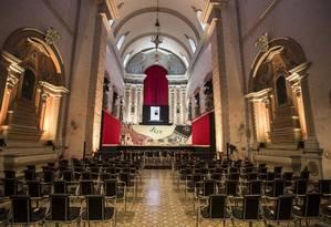 Igreja da Matriz, onde vão acontecer as palestras da programação Foto: ANA BRANCO / Agência O Globo