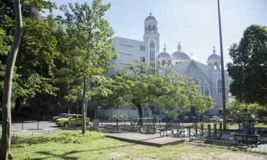 A Paróquia Nossa Senhora do Perpétuo Socorro organiza a festa na Praça Edmundo Rego Foto: Analice Paron / Agência O Globo