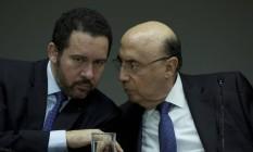 Os ministros do Planejamento, Dyogo Oliveira, e da Fazenda, Henrique Meirelles> Foto: Michel Filho / Agência O Globo