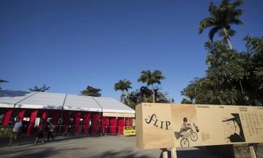 Praça da Matriz, onde estarão concentrados os eventos simultaneos da Flip 2017 Foto: ANA BRANCO / Agência O Globo