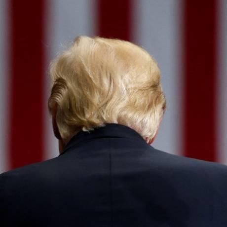 Trump participa de comício com seus apoiadores em Ohio, nos EUA Foto: JONATHAN ERNST / REUTERS