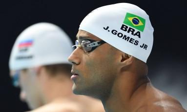João Gomes na final dos 50m nado peito: mais uma prata do Brasil no Mundial de Natação Foto: FRANCOIS XAVIER MARIT / AFP