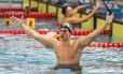 Guilherme Maia comemora após vencer a prova na Turquia Foto: Reprodução/Facebook
