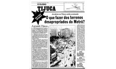 """O editorial do GLOBO-Tijuca, em 23 de março de 1982, destacava que o projeto era """"parte de uma programação jornalística destina a acompanhar mais de perto e mais intimamente a realidade e os problemas das diversas comunidades do Rio"""" Foto: Acervo / O GLOBO"""