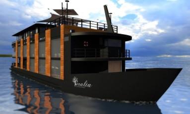 Projeto. Como ficará o Barco Hotel Peralta após a reforma Foto: Divulgação