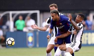 Neymar durante amistoso contra a Juventus, sábado Foto: ELSA / AFP