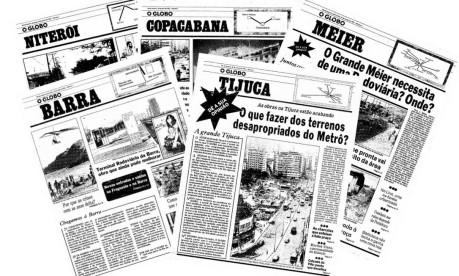 As primeiras edições dos Jornais de Bairro foram publicadas em 1982 Foto: O GLOBO