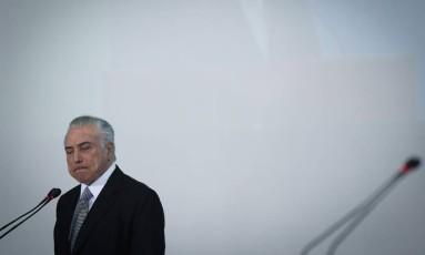 O presidente Michel Temer Foto: André Coelho / Agência O Globo / 25-7-17