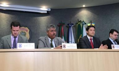 Força-Tarefa em coletiva de imprensa em Curitiba Foto: Vinícius Sgarbe