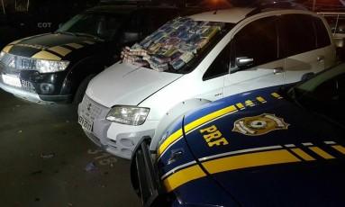 Polícia apreende droga em estacionamento de shopping da Zona Norte Foto: Divulgação/PRF e PF
