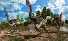 Reconstrução artística do Corythoraptor jacobsi Foto: Zhao Chuang