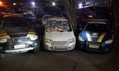 O carro onde estava escondida a droga Foto: Polícia Rodoviária Federal / Divulgação