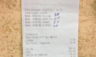 Passagem de volta de Portugal estava marcada para 19 de agosto de 2017 Foto: Divulgação