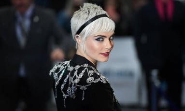 """Cara Delevingne na première do filme """"Valerian e a cidade dos mil planetas' Foto: CHRIS J RATCLIFFE / AFP"""