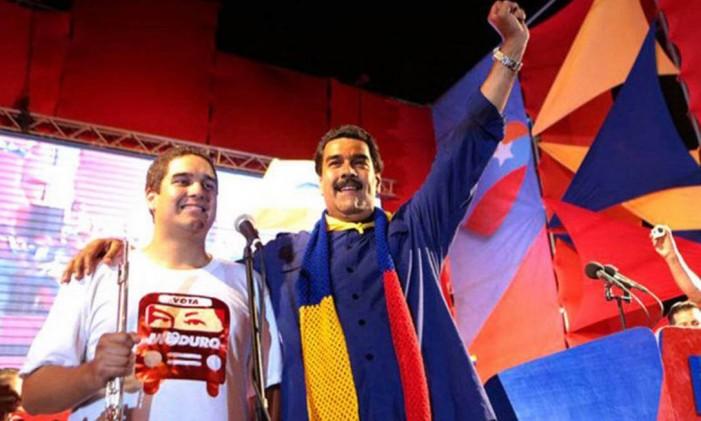 Presidente da Venezuela, Nicolás Maduro, e o filho Foto: Divulgação/Notícias Venezuela