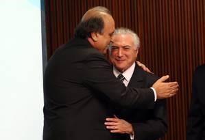 O presidente Michel Temer assinou o decreto do plano de recuperação fiscal do Rio Foto: Givaldo Barbosa / Agência O Globo