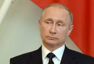 Presidente russo, Vladimir Putin, participa de entrevista coletiva na Finlândia Foto: LEHTIKUVA / REUTERS