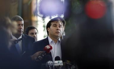 Rodrigo Maia, presidente da Câmara Foto: Edilson Dantas / O Globo