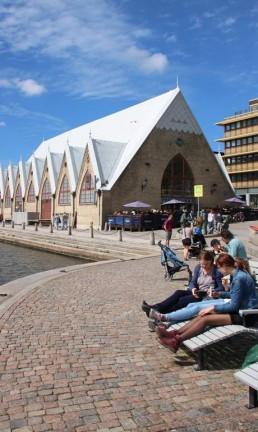 O mercado de peixe Feskekôrka, em Gotemburgo, Suécia Foto: Eduardo Maia / O Globo