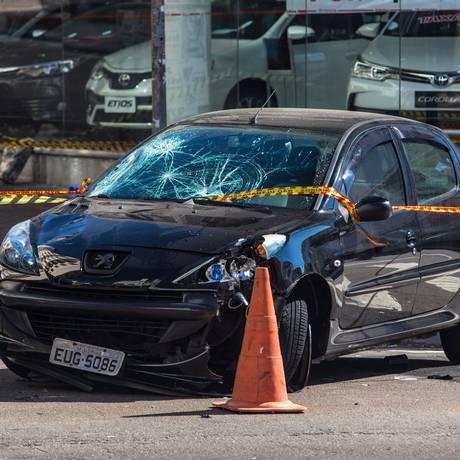 Atropelamento na Rua Augusta deixa cinco feridos, dois deles em estado grave Foto: Edilson Dantas / Agência O Globo