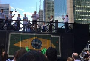Movimento Quero um Brasil Ético protestou contra o presidente Michel Temer em ato na Av. Paulista Foto: Divulgação