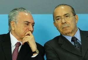Michel Temer e Eliseu Padilha: estratégias para a votação Foto: Jorge William/27-07-2017 / Agência O Globo