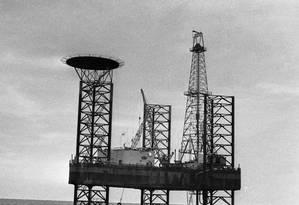 Aposta. Campo de Guaricema, em Sergipe: início da exploração no mar Foto: Arquivo/15-1-1969