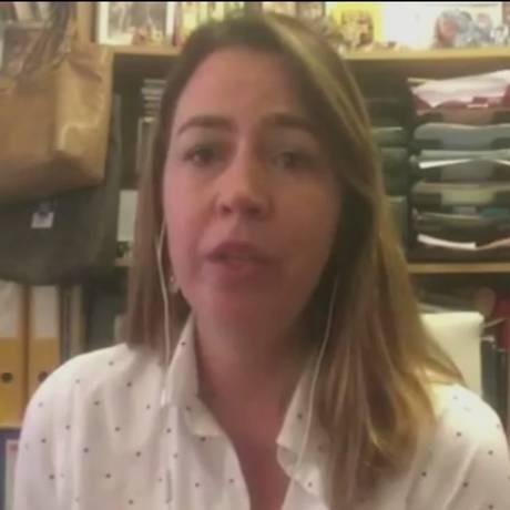 Janaína Figueiredo, correspondente do GLOBO em Buenos Aires Foto: Reprodução Vídeo