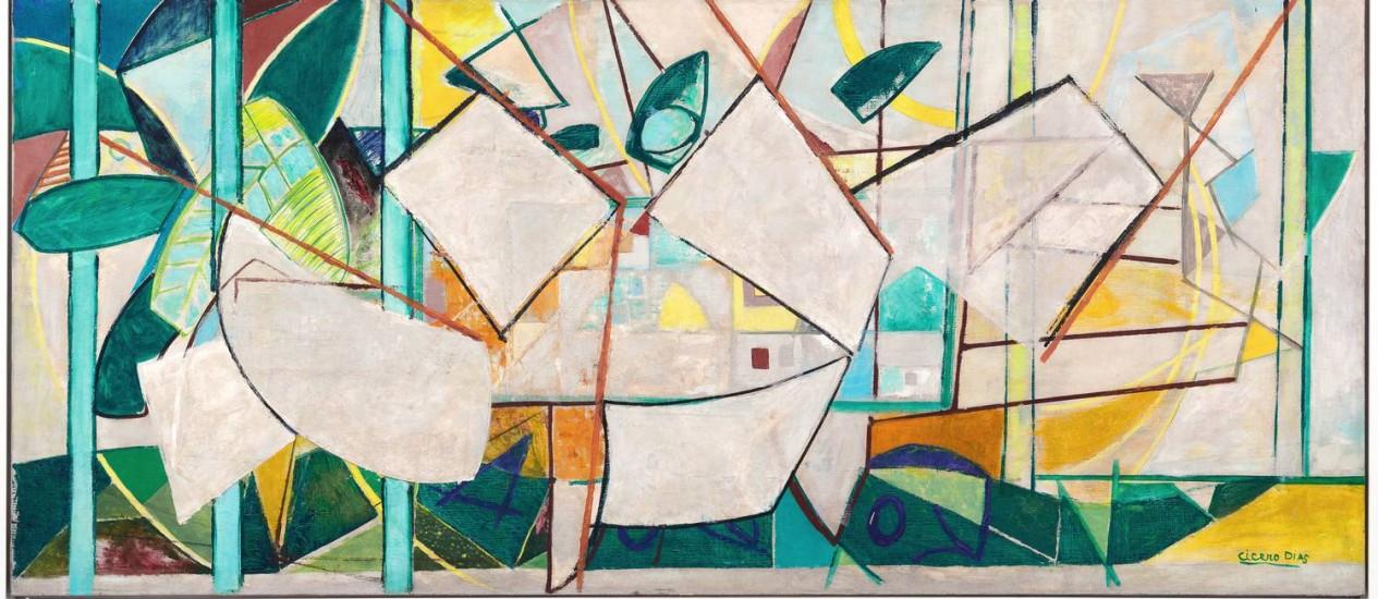 """Tela """"O grande dia"""", de 1948: pintor pernambucano foi pioneiro da abstração no Brasil Foto: Jaime Acioli / Divulgação"""