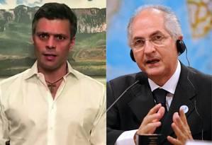 Líderes opositores Leopoldo López (esq.) e Antonio Ledezma (dir.) foram detidos pelo governo venezuelano Foto: AFP