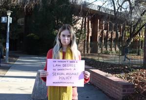 Universitárias criaram uma campanha para lutar contra a violência sexual dentro das universidades Foto: END RAPE ON CAMPUS AUSTRALIA