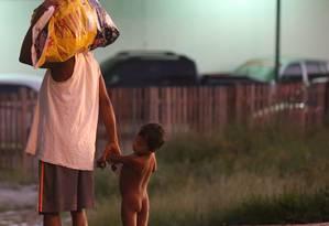 Venezuelanos em Pacaraima, abandono do Estado na área de fronteira Foto: Marcos Alves / Agência O Globo/ 2-11-2016