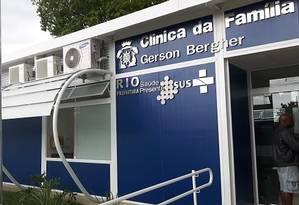 Clínica da Família Gerson Bergher, na Zona Oeste do Rio, pode ser fechada por contenção de custos da prefeitura Foto: Reprodução