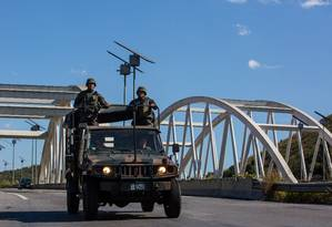 Tropas federais no Rio: verba remanejada para segurança no estado chega a R$ 250 milhões Foto: Luciola Villela / Agência O Globo