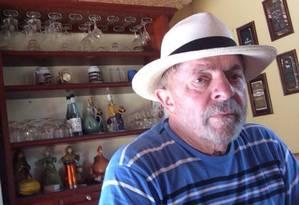 Lula no sítio de Atibaia Foto: Reprodução