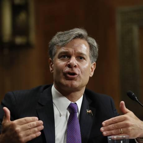 Christopher Wray: novo diretor do FBI Foto: Pablo Martinez Monsivais / AP